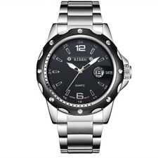 BIDEN Mens Watch Fashion Business Waterproof Quartz Stainless Steel Military