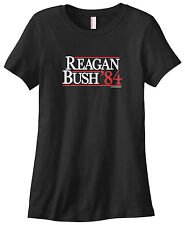 Threadrock Women's Reagan Bush 84 '84 T-shirt Bringing America Back