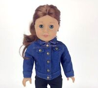 Denim Jean Jacket with Stitching Made for 18 Inch American Girl Doll Clothes