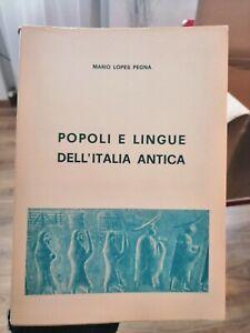 Mario Lopes Pegna Popoli e Lingue dell'Italia Antica 1966 Studi Storici Toscani