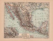 Antique map. North America. Mexico. c 1905