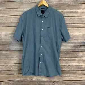 KR3W Short Sleeve Button Down Shirt Size: L