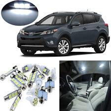 7pcs White Interior LEED Light Package Kit for Toyota RAV4 2006-2013 #