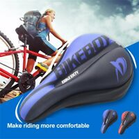 Men's Bicycle Seat Cushion Road Mountain Bike Riding Saddle Cover Cycling,Red