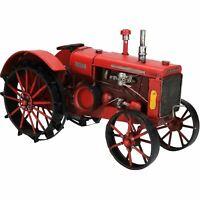 Vintage Red Tractor Metal Ornament Model Sculpture Statue Decoration Replica