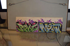 "Graffiti Canvas 4""x12"" 4x12 By P.ONE MEWTS MTN MONTANA RUSTO KRYLON KND PONE"