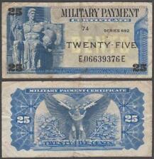 MPC Series 692, 25 Cents, ND (1970), F++ (edge tear), P-M93