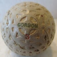 VINTAGE GORDON MESH GOLF BALL WITH UNUSUAL COVER PATTERN