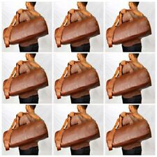 Lot of 5 pcs Handmade Goat Leather Duffle Bag,Gym Bag,Overnight Bag Square 23""