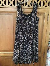 Tahari SILK DRESS Leopard Animal Print SIZE 12