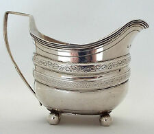 Silver Jug Georgian Decorative Solid Sterling Silver Tom Wallis London 1807