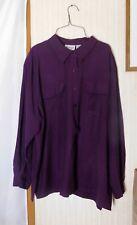 Joanna Plus Women's Blouse Size 24W - Purple - Rayon/Polyester Blend
