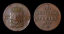 Norvège 1 Skilling 1816 Carl XIII - KM 284 Very Fine - Cuivre