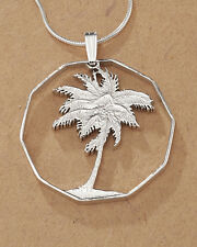 Silver Palm Tree Pendant, Palm Tree Necklace,Tropical Jewelry, ( # 250S )