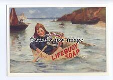 ad0643 - Lifebouy Royal Soap - Boy In A Little Boat - Modern Advert Postcard