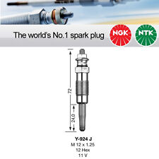 NGK Y-924J / Y924J / 3473 Sheathed Glow Plug Pack of 3