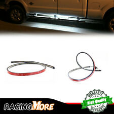 "48"" 120-SMD LED Strips DRL Running Step Lights For Trucks Universal White/Amber"
