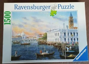 JIGSAW Ravensburger 1500 Piece Puzzle EVENING in VENICE Checked COMPLETE