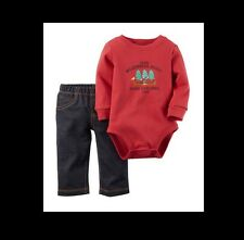 NWT - Carters - BABY BOY - 2 Piece OUTFIT - Little Wilderness Scout - 6 MONTHS