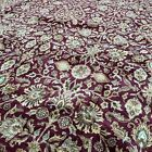 New Floral Oriental Rug Handmade in India,Thick Soft Pile,Elegant Neutrals,12x15