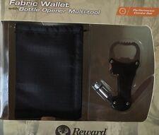 Reward Original Black Fabric Wallet With Bottle Opener Multi-tool