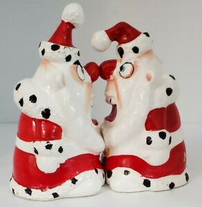 "Kreiss Psycho Ceramics Angry Christmas Santas 5"" Japan"