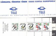 Finland 1991 MNH Booklet - Birds: Robin, Waxwing, Pied Wagtail - Fauna