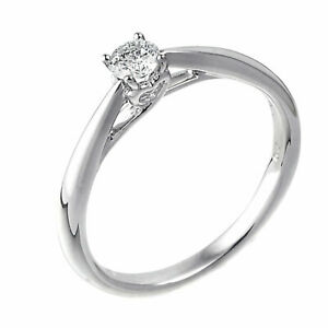 Ernest Jones 9 Carat White Gold 0.33 Carat Diamond Ring Size I 2.0g  RRP £999