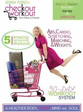 JENNY FORD CHECKOUT WORKOUT DVD 5 WORKOUTS CARDIO AND TONING NEW SEALED