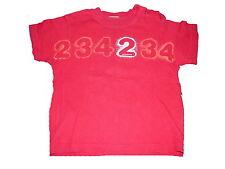 Mexx tolles T-Shirt Gr. 80 rot mit Zahlendruckmotiv !!