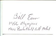 Bill Evans Kentucky Wildcats 1956 US Gold Medal Basketball Signed Autorgaph