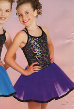 NWOT Dance Costume Party Pageant Costume Small Child Plum Sequin Ribbon hem