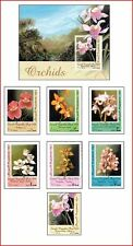 SOM98052 Orchids 7 stamps + block