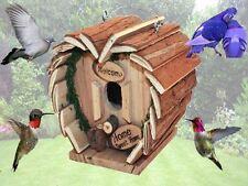 Bird Hotel Casa Colgante Casa De Madera Casa Jardín Alimentador de estación Spot Caja de nido
