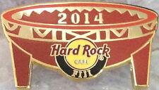 "Hard Rock Cafe FIJI 2014 Traditional ""Tanoa"" Kava Bowl PIN LE 100! - HRC #78292"