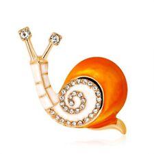 Animal Brooch Pin Women Party Jewelry Hot Charm Rhinestone Crystal Enamel Snail
