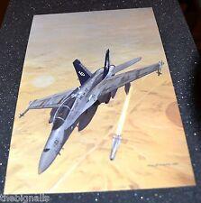 Iraqi War Aircraft USMC F/A-18 Hornet. Large Postcard