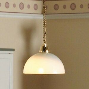 1/12 Scale Dolls House Emporium Rise and Fall Domed Ceiling Light 12V 6053