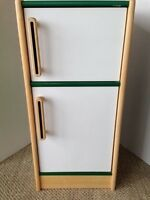 """Toy Kitchen Pretend Play Wooden Refrigerator Green/White 34"""" high LOCAL PICK-UP"""