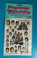 Popstar Watchits - BAY CITY ROLLERS - Letraset Rub-down Transfers - 1975 -