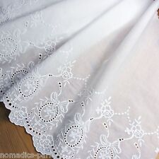 1Yard Embroidered Cotton Eyelet Lace Trim  White Lovely 18.5inch(47cm) Wide
