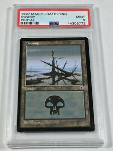 Graded Swamp D PSA 9 MINT Portal 1997 MTG Magic Card Vintage Pop 1 (None Higher)