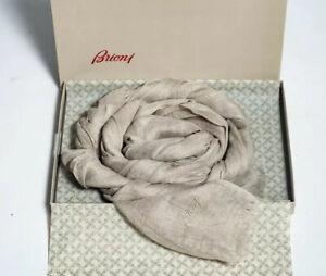 NWT $425 BRIONI Beige Linen Scarf 200x70 cm/ 78,7x27,6 in