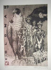 Original etching by POLAKOVIC DUSAN (1950-2016) Slovakia