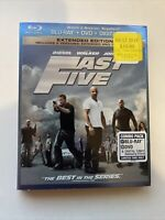 Fast Five w/ Slipcover (Bluray/DVD, 2011) *NEW* [BUY 2 GET 1]
