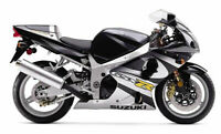 Fairing Bodywork Kit ABS Fairings Work For 00-02 Suzuki GSXR1000 Silver Black