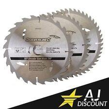 3x Lames scie circulaire TCT 24, 40 et 48 dents Carbure Ø 210 x 30, 25 et 16mm