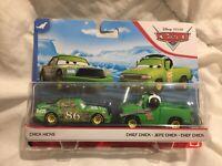 Disney Pixar Cars CHICK HICKS & CHIEF CREW 2020 MATTEL 1:55 DIECAST TOKYO DRIFT