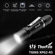 ThorFire TG06S 500LM 5 Modes LED EDC Tactical Flashlight Torch Cap Light Strobe