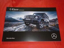 MERCEDES W463 G-Klasse G 350 d G 500 AMG G 63 AMG G 65 Prospekt Brochure 2017